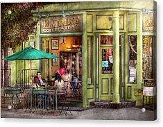 Cafe - Hoboken Nj - Empire Coffee And Tea Acrylic Print by Mike Savad
