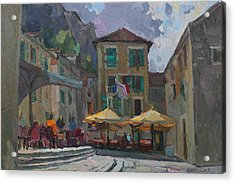 Cafe In Old City Acrylic Print