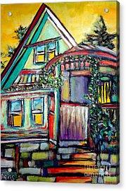 Cafe In Revelsoke Bc Canada Acrylic Print by Aeris Osborne