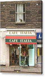 Cafe Italia Acrylic Print by Mike McGlothlen