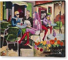 Cafe Marseille Acrylic Print by Elisabeta Hermann