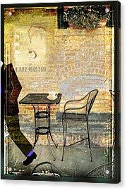 Cafe Martin Acrylic Print