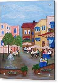 Cafe' Moments Acrylic Print by Anke Wheeler