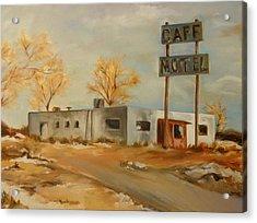 Cafe Motel Acrylic Print