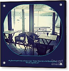 Acrylic Print featuring the photograph Cafe On The River by Leanne Seymour