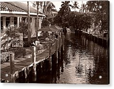 Acrylic Print featuring the photograph Cafe Outdoors by Lorenzo Cassina