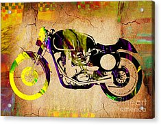 Cafe Racer Motorcycle Acrylic Print by Marvin Blaine
