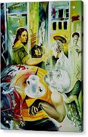 Cafe Salome Acrylic Print by Nekoda  Singer