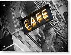 Cafe Sign Acrylic Print