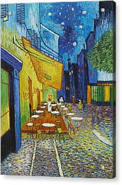 Cafe Terrace At Night Acrylic Print by Georgia Fowler