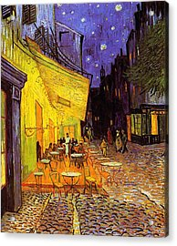 Cafe Terrace At Night Acrylic Print
