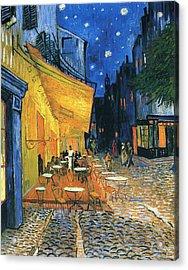 Cafe Terrace Place Du Forum Arles 1888 Acrylic Print