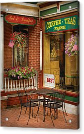 Cafe - The Best Ice Cream In Lancaster Acrylic Print by Mike Savad