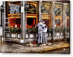 Cafe - The Painters Acrylic Print by Mike Savad
