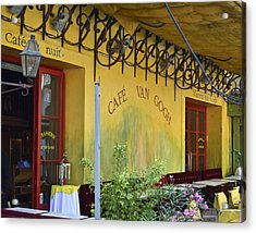 Acrylic Print featuring the photograph Cafe Van Gogh by Allen Sheffield