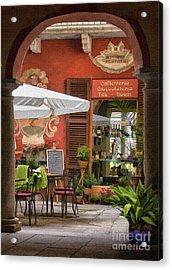 Caffeteria Orta San Guilio Acrylic Print