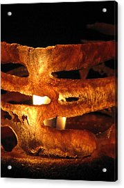 Caged Flame Acrylic Print