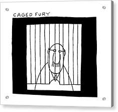 Caged Fury Acrylic Print by Charles Barsotti