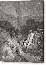 Cain And Abel Offering Their Sacrifices Acrylic Print by Gustave Dore