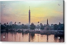 Cairo And The Nile Acrylic Print