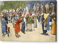 Cairo Curios; Or, The Shepheards Flock Acrylic Print by Lance Thackeray