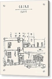 Cairo, Egypt, North Africa. A Man Acrylic Print
