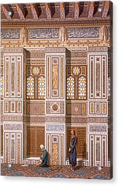 Cairo Interior Of The Mosque Acrylic Print by Emile Prisse d'Avennes
