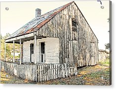 Cajun Cabin Acrylic Print by Ronald Olivier