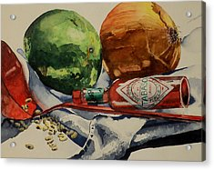 Acrylic Print featuring the painting Cajun Cookin' by Jeffrey S Perrine