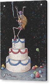 Cake Acrylic Print by Holly Wood