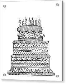 Cake Acrylic Print by Neeti Goswami