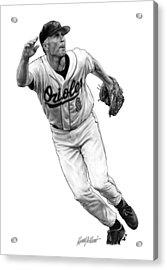 Cal Ripken Jr I Acrylic Print by Harry West