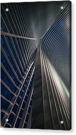 Calatrava Lines At The Blue Hour Acrylic Print by Jef Van Den