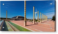 Calatrava Tower At Olympic Ring Acrylic Print by Panoramic Images
