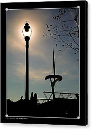 Acrylic Print featuring the photograph Calatrava Tower Backlight by Pedro L Gili
