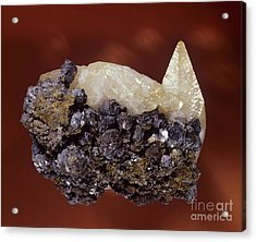 Calcite Crystal Acrylic Print by Hermann Eisenbeiss