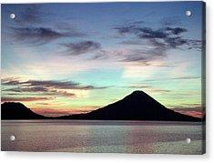 Caldera Sunset Acrylic Print by Paula Marie deBaleau