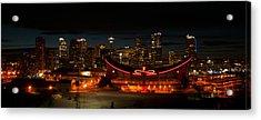 Calgary At Night Acrylic Print by Guy Whiteley