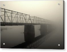 Acrylic Print featuring the photograph Calhoun Street Bridge In Fog by Steven Richman