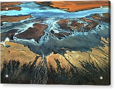 California Aerial - The Desert From Above Acrylic Print by Tanja Ghirardini