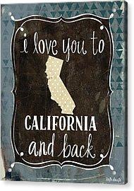 California And Back Acrylic Print