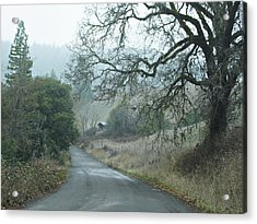 California Back Country Road Acrylic Print