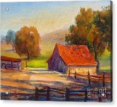 California Barn Acrylic Print
