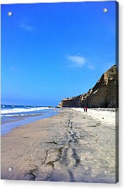 California Beach Hike Acrylic Print