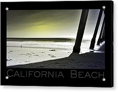 Acrylic Print featuring the photograph California Beach by Kevin Bergen