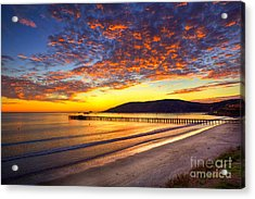 Avila Beach Sunset Acrylic Print