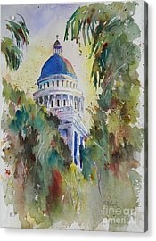 California Capitol Building Acrylic Print by William Reed