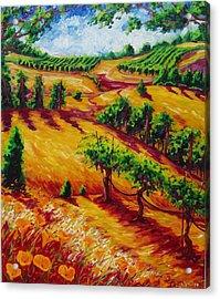 California Chardonnay Acrylic Print by Lisa V Maus