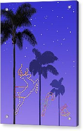 California Christmas Palm Trees Acrylic Print