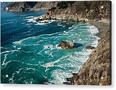 California Coast - Big Creek Bridge Acrylic Print by George Buxbaum